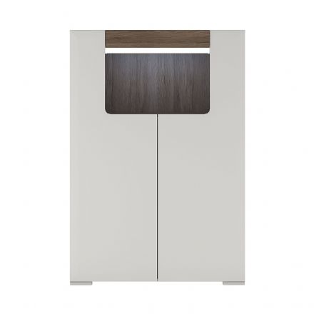 Toronto Low 2 Door cabinet with open shelf (inc. Plexi Lighting)
